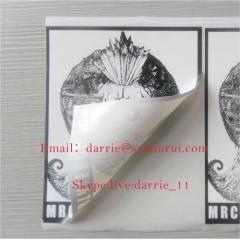China Top Eggshell paper factory Wholesale customized destructible vinyl Eggshell sticker for graffiti in street art