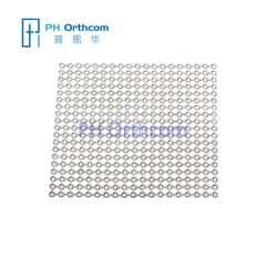 Titanium Mesh Thickness 0.6mm for Neurosurgery Size 100x100