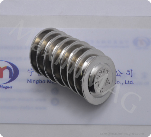 round magnetic name badges with neodymium disc magnet