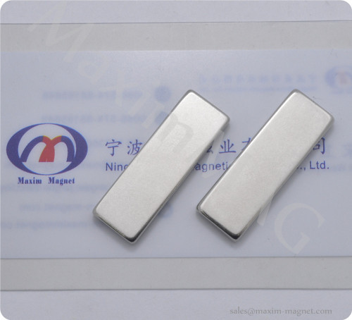 Neodymium block magnets Nickel coating