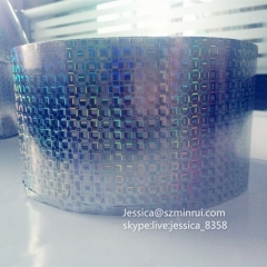 Factory Price Glossy Holographic Breakable Label Paper Security Hologram Destructible Vinyl Eggshell Paper Material