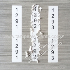 Custom Security Permanent Serial Number Stickers in Rolls Ultra Destructive Number Sticker