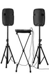"professional china speaker supplier 10"" 2 way audio pro plastic speaker for stage can be installed on speaker stand"