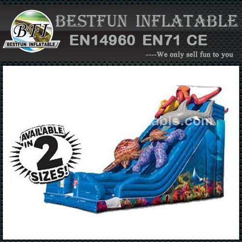 Outdoor giant ocean theme inflatable slide