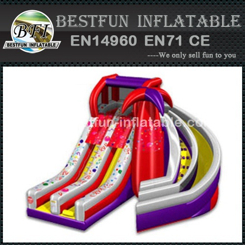PVC Tarpaulin giant Inflatable spiral slide