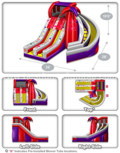 Cheer Amusement inflatable Spiral Slide