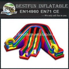 Triple lane slip slide inflatable