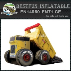 Fou gonflable toboggan monster truck fabrication directe