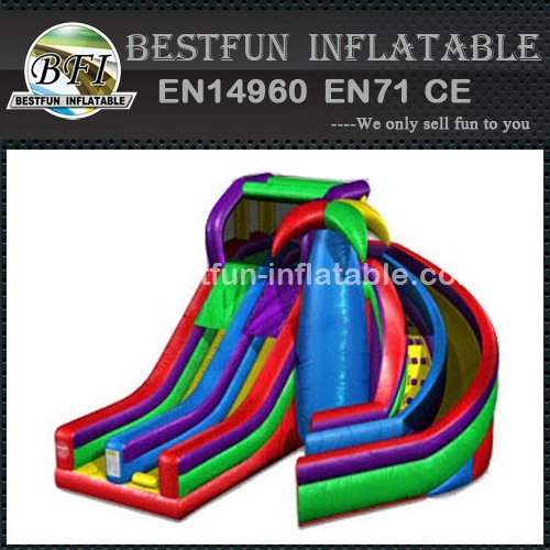 Colorful Dual Spiral Slide
