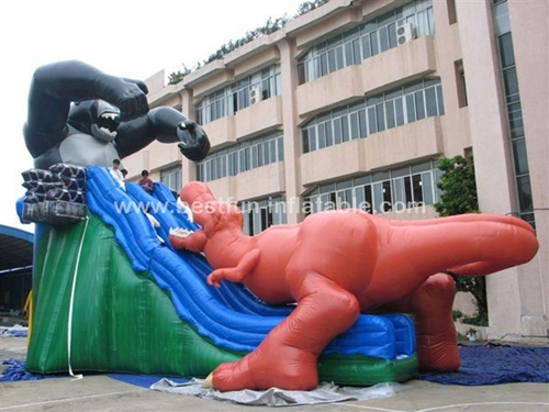 Empire new design inflatable king kong slide