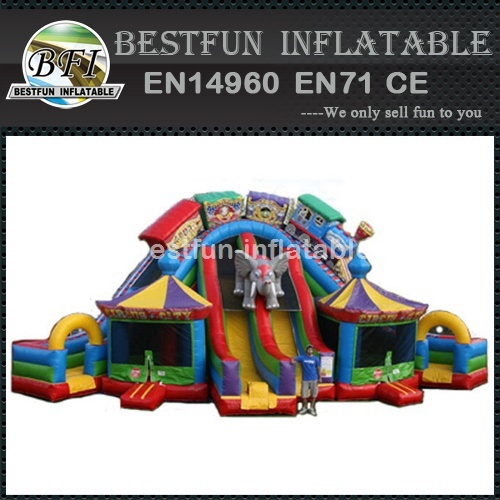 Circus city inflatable dry slide for sale