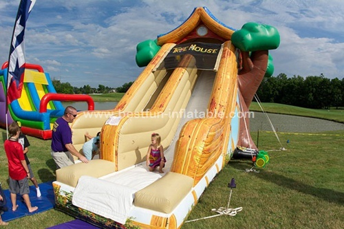 Inflatable jumping slide tree house children slide