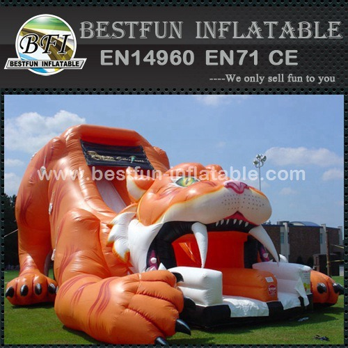 Inflatable slides sabre tooth