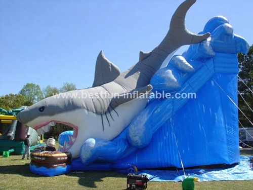 Inflatable Shark Escape slide