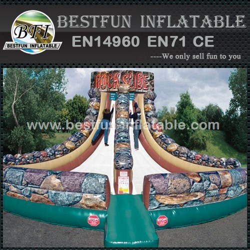Inflatable rock climbing slide