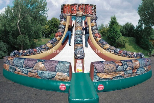 Jungle rock digital printing inflatable slide