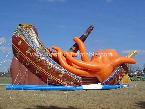Kraken boat inflatable slip n slide