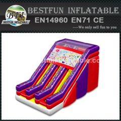 Dual lane giant inflatable slides