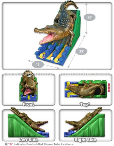 Promotion Sale Inflatable Crocodile Kids Water Slide