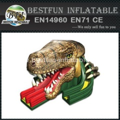 Fashionable commercial raptor inflatable slide