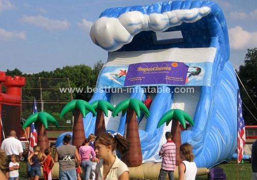 Surf the wave dual lane Inflatable Slip Slide