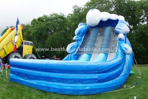 Surfs Up Double Splash Wild West Sandy beach inflatable Slide
