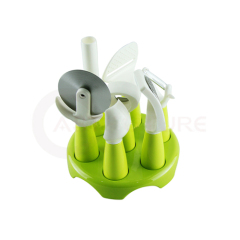 7 Components Eco-friendly Kitchen Utensil Set With Stand