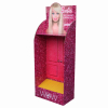 Hair accessory cardboard peg and shelf mixed display stand