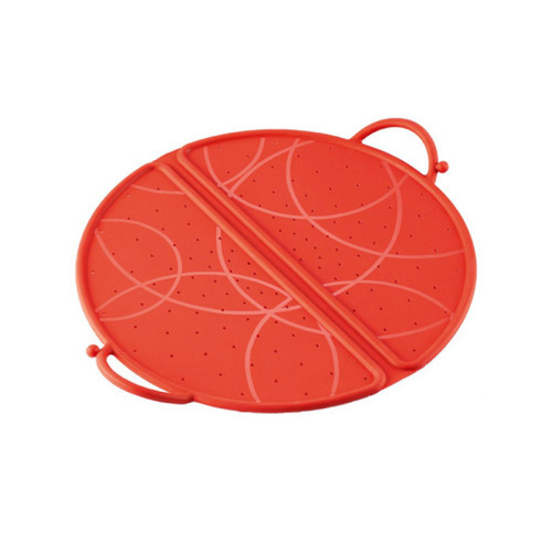 Collapsible spray proof anti-flutter Silicon pot cover