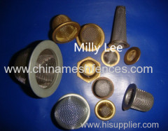 12.7mm round stamping filter cap SPL filter wire mesh stainless steel 40 micron filter mesh
