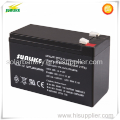 High Quality Rechargeable UPS 12V7ah Lead Battery with CE UL Approval
