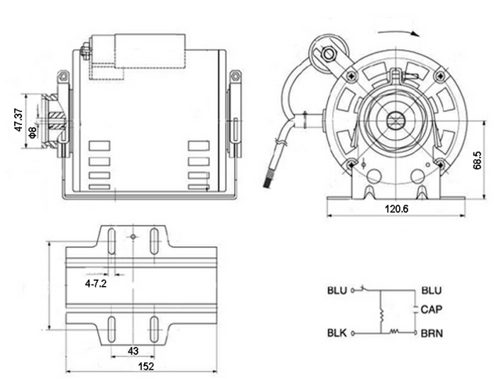 pump motor for espresso coffee machines from china