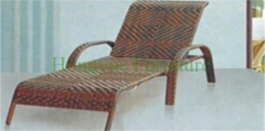Brown color rattan lounge chair set furniture