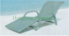 Grey rattan material lounge chair furniture set