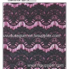 Black Nylon Eyelash Lace Fabric (E1691)