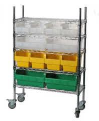棚システムと倉庫で使用される新しいshelfullビン