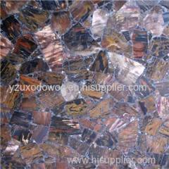 Xylopal Wood Gemstone Mosaic Slab