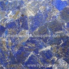 Lapis Lazuli Overlay Gemstone Slab
