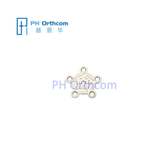 Titanium Plate for Neurosurgery Burr Hole Plate Thickness 0.4mm