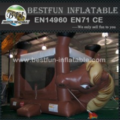 Horse inflatable junping bouncer