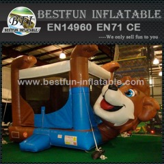 Belly inflatable bear bouncer