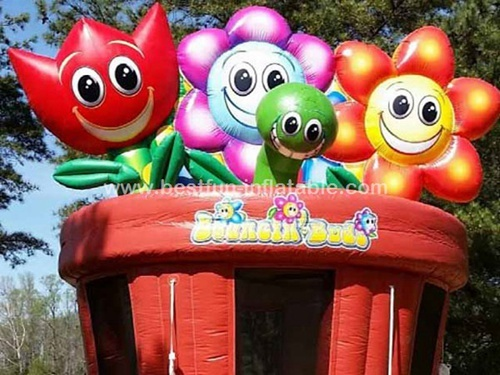Inflatable flower garden bouncer
