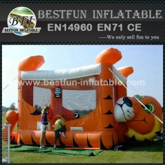 Inflatable tiger belly bouncer