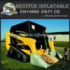 Nuevo tema de diseño bulldozer castillo inflable