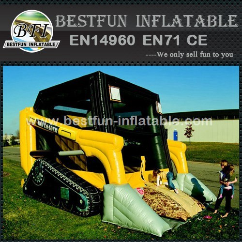 Inflatable skid loader bouncer