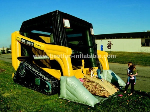New design bulldozer theme inflatable castle