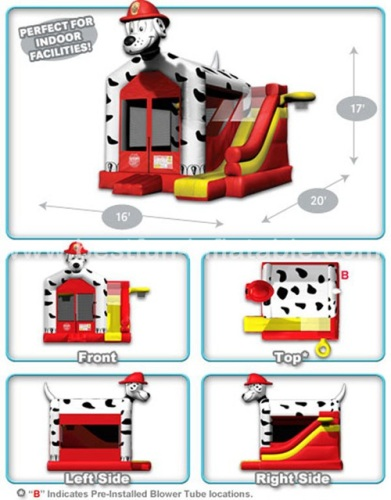 Dalmatian Slide Bouncer Inflatable Combo