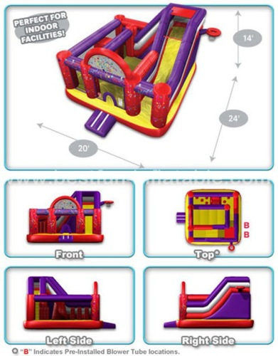 Inflatable jumper and slide combos