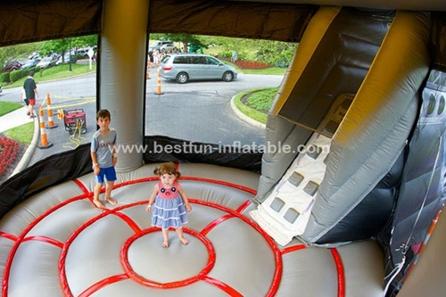 Inflatable UFO bouncer slide