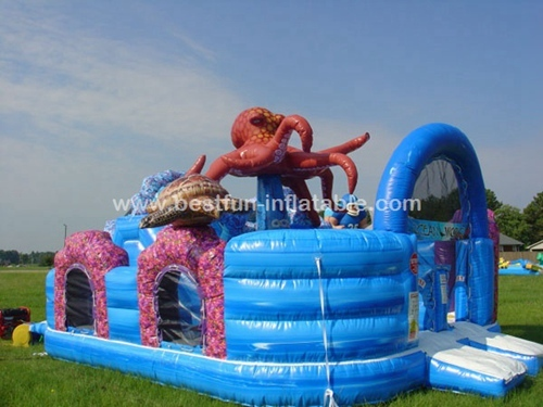 Inflatable bouncer amusement park for Ocean World
